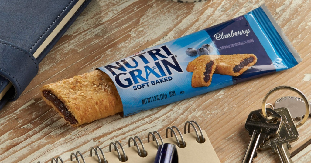 nutrigrain bar on table