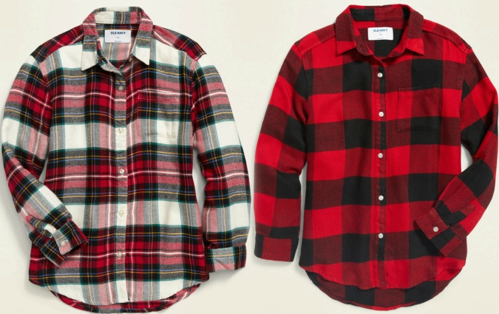 Girls Old Navy Flannel Shirts in two styles