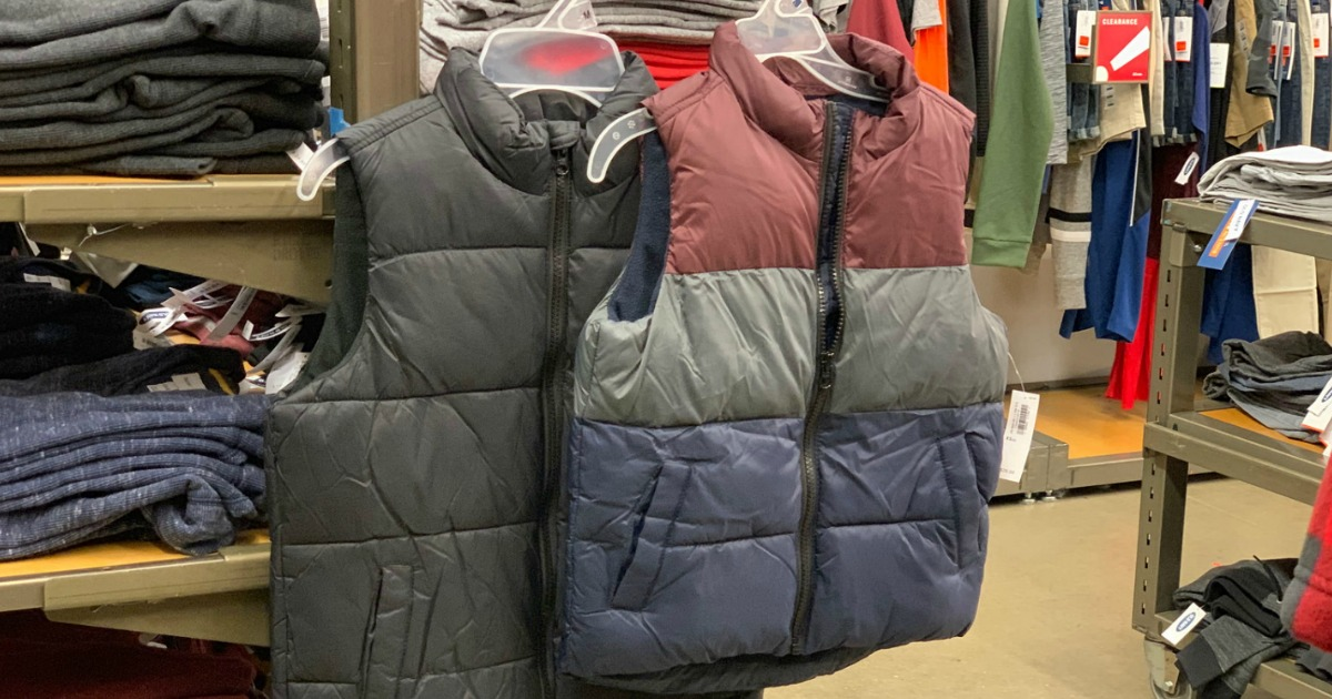 Old Navy Men's and Boys Puffer Vest