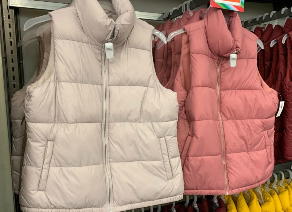 Women's Puffer Vest on display at Old Navy