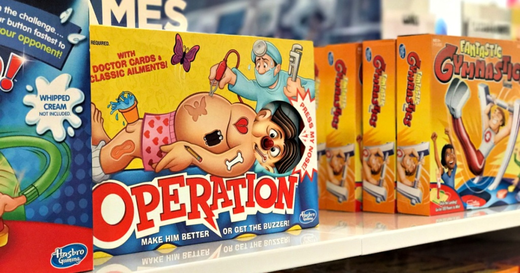 Operation game on shelf
