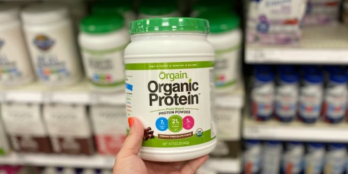 Orgain Organic Protein Powder 2lb Canister Only $16.78 Shipped on Amazon (Regularly $26)