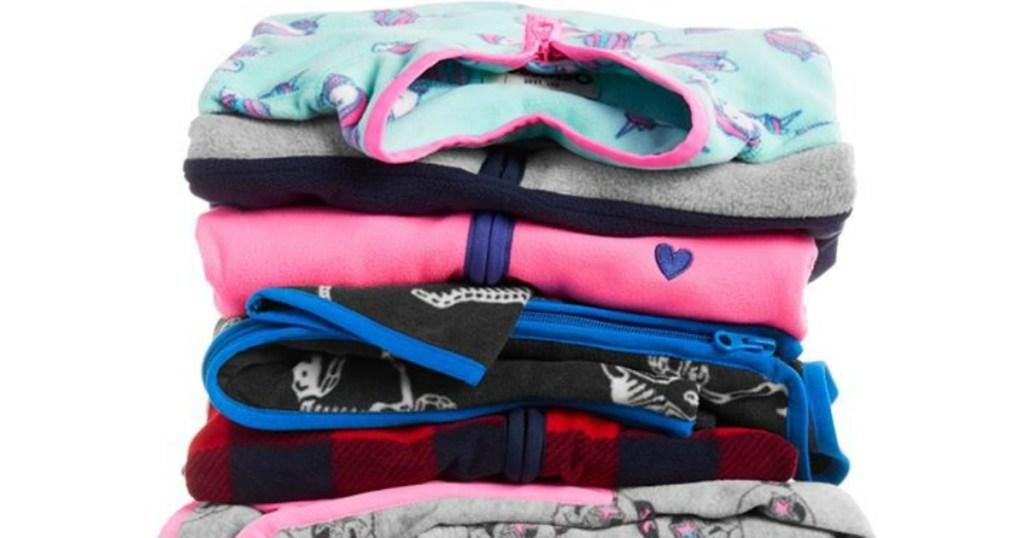 pile of OshKosh Fleece Cozies