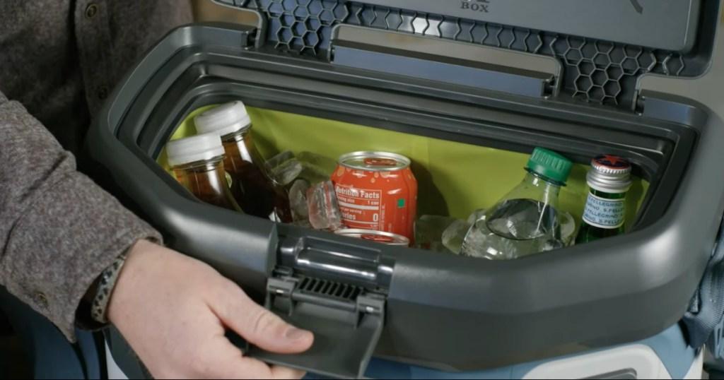 Otterbox Trooper Cooler full of drinks