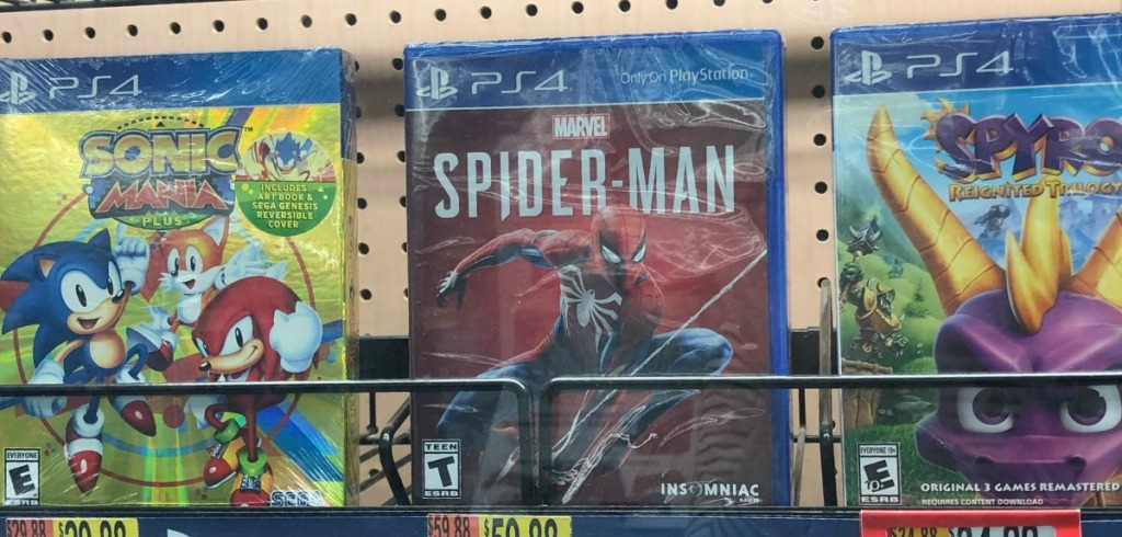 PS4 Video Games on display in-store at Walmart