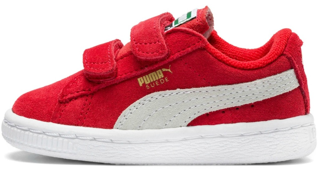 Red suede shoe for toddlers