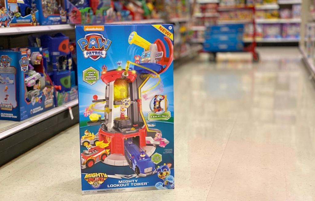 Paw Patrol Lookout Tower on floor at Target