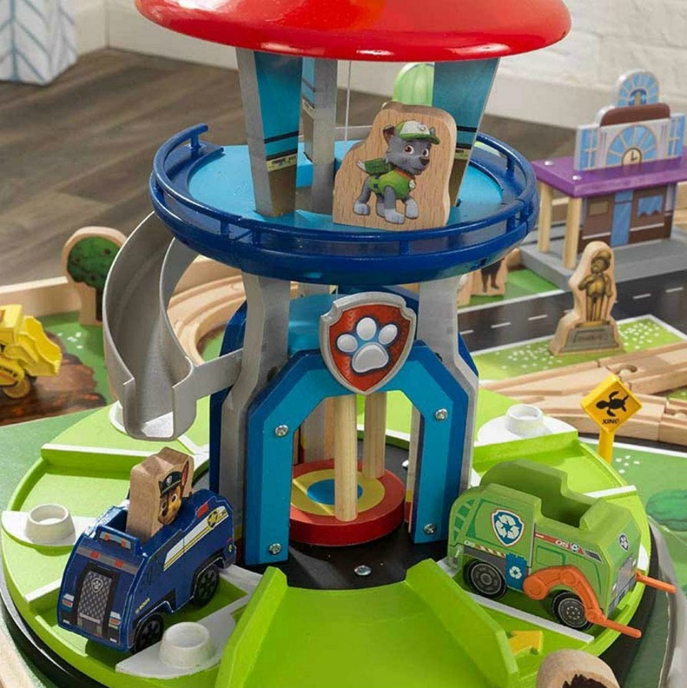 Paw Patrol Train Table tower close-up