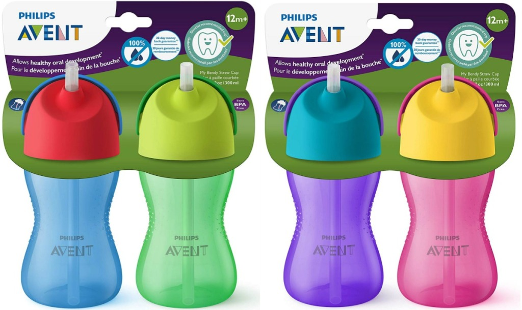 Two packs of sippy cup 2-packs
