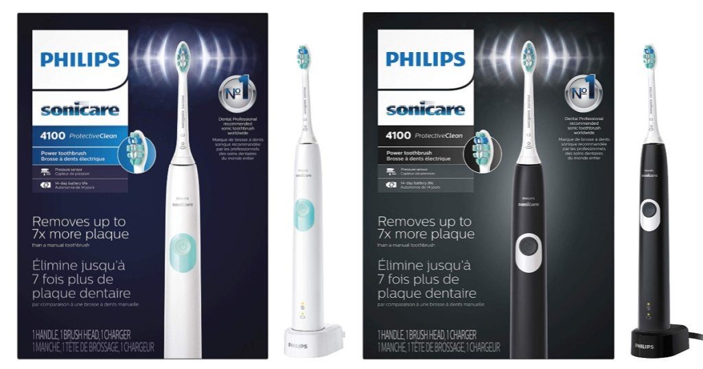 Philips Sonicare ProtectiveClean Rechargeable Electric Toothbrush white and black