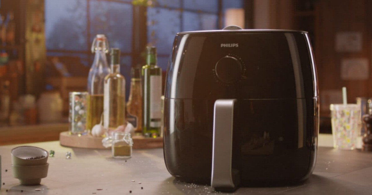 Philips Twin TurboStar Technology XXL Airfryer on counter