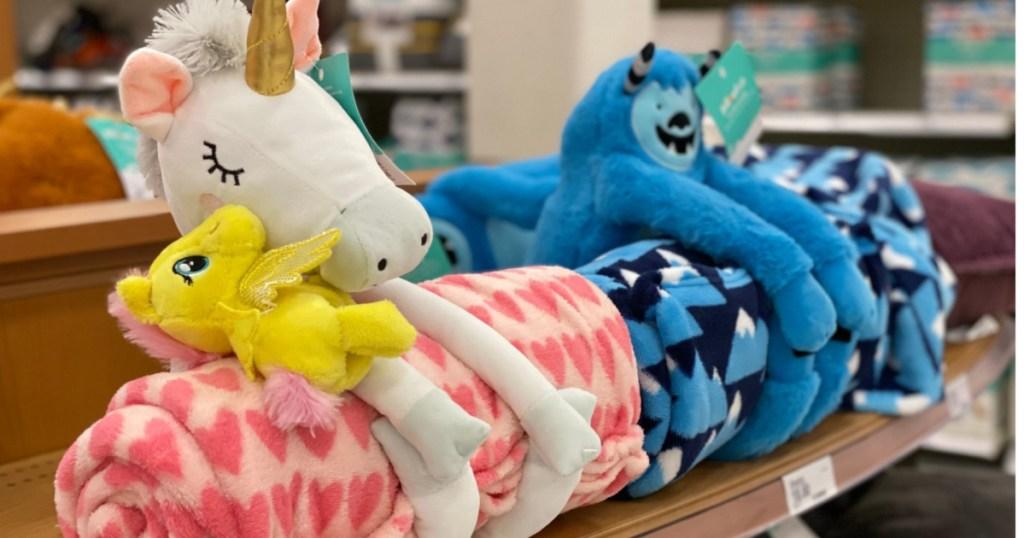 kids pillowfort blankets at target