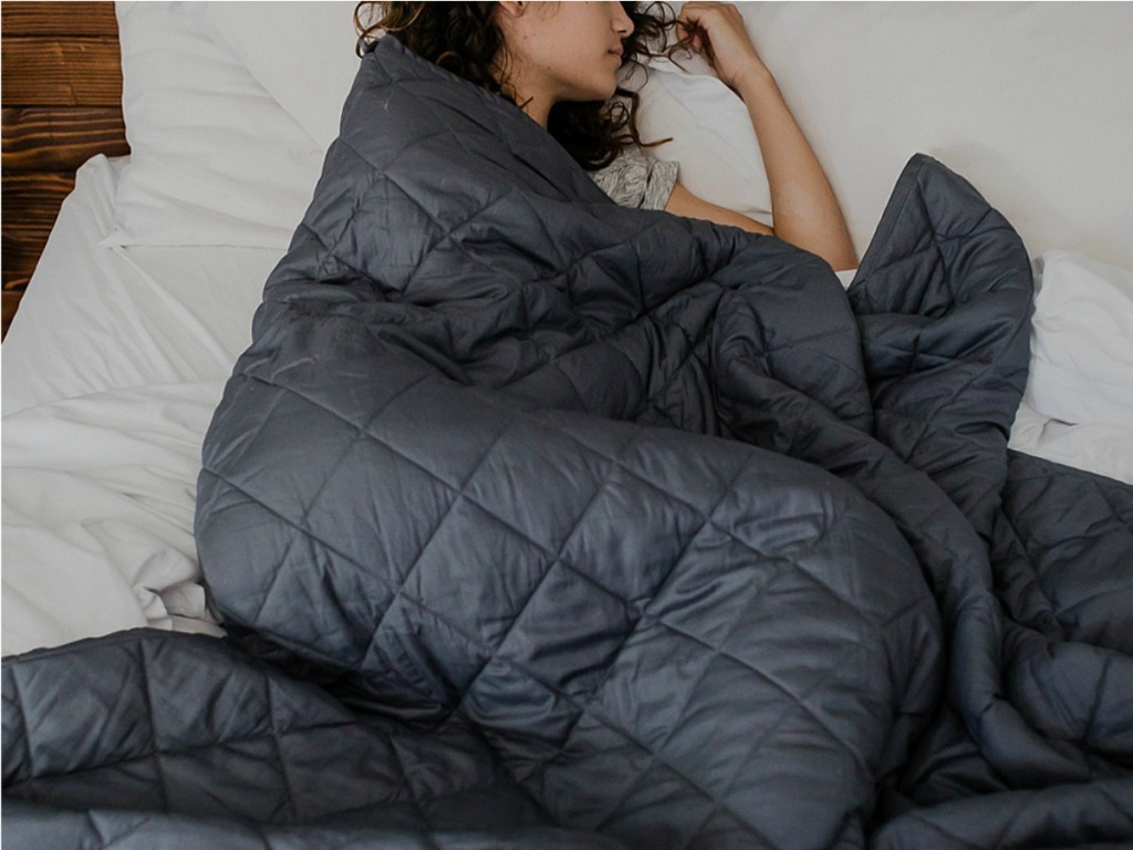 Pine and River Cotton Weighted Blanket