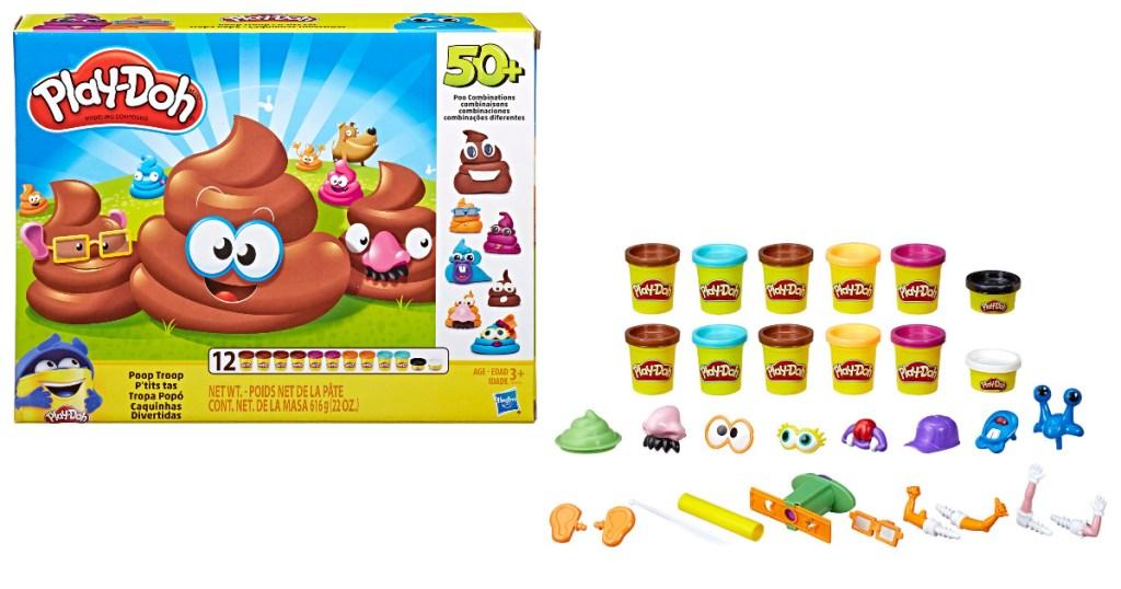 play doh poop troop set and items