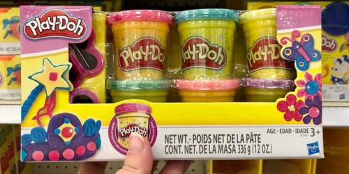 Play-Doh Sparkle Glitter Compound 6-Packs from $3.55 Each on Kohls.com | Great Stocking Stuffer