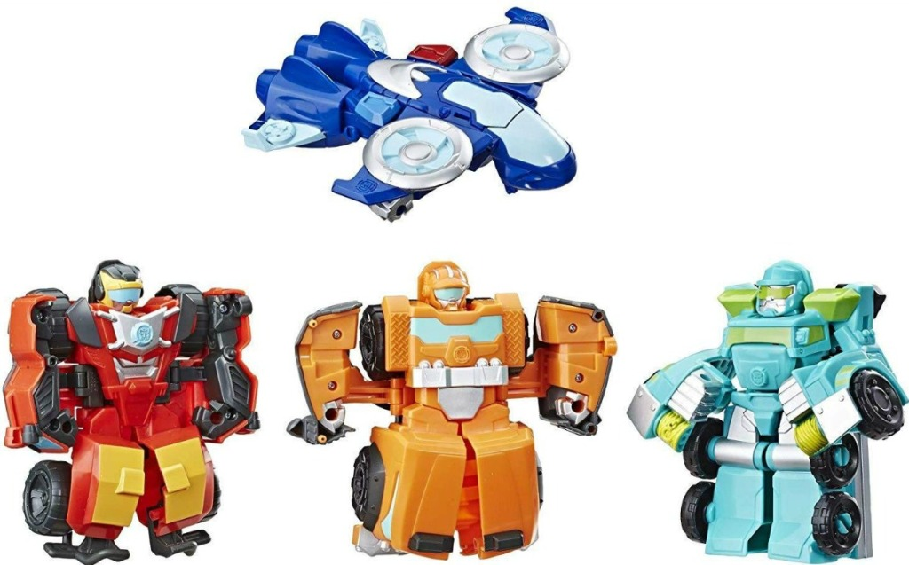 Four Playskool Heroes Transformers Rescue Bots