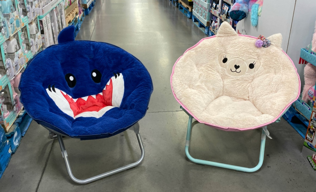 Plush Critter Saucer Chair - Various Designs