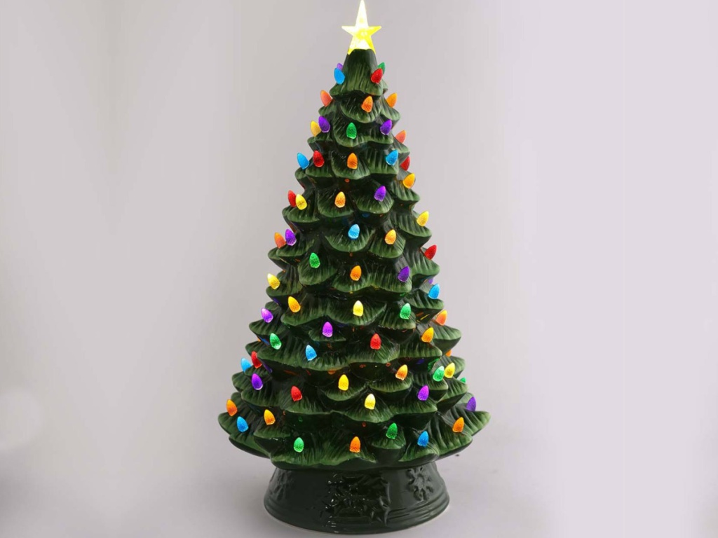 Pre-Lit Ceramic Christmas Trees