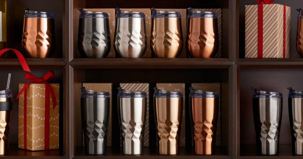 Primula Peak Tumblers on shelf