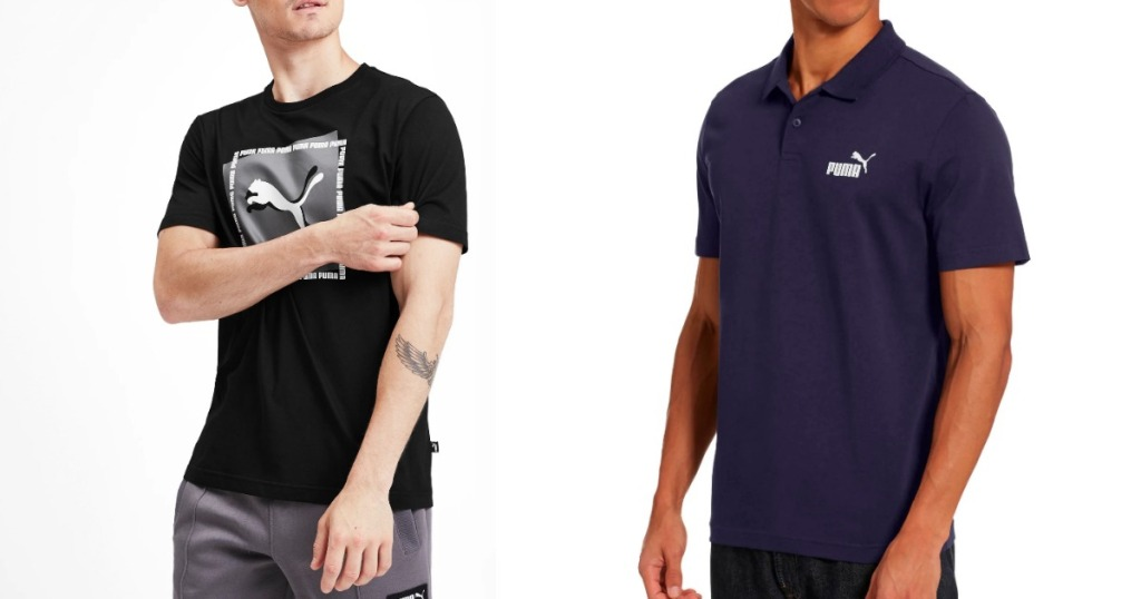 Men wearing Puma Men's Tee and Polo