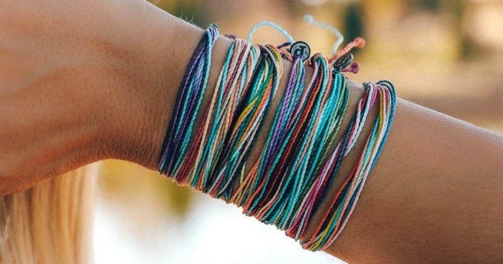 Woman wearing Pura Vida Bracelets