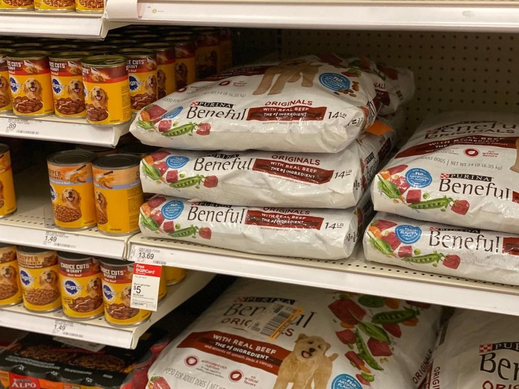 Purina Beneful Dry Dog Food on Target shelf