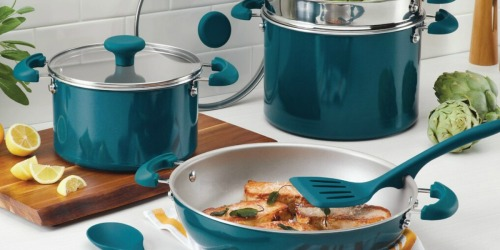 Rachael Ray 8-Piece Stacking Cookware Set Only $61.99 Shipped After Rebate + Get $30 Kohl's Cash