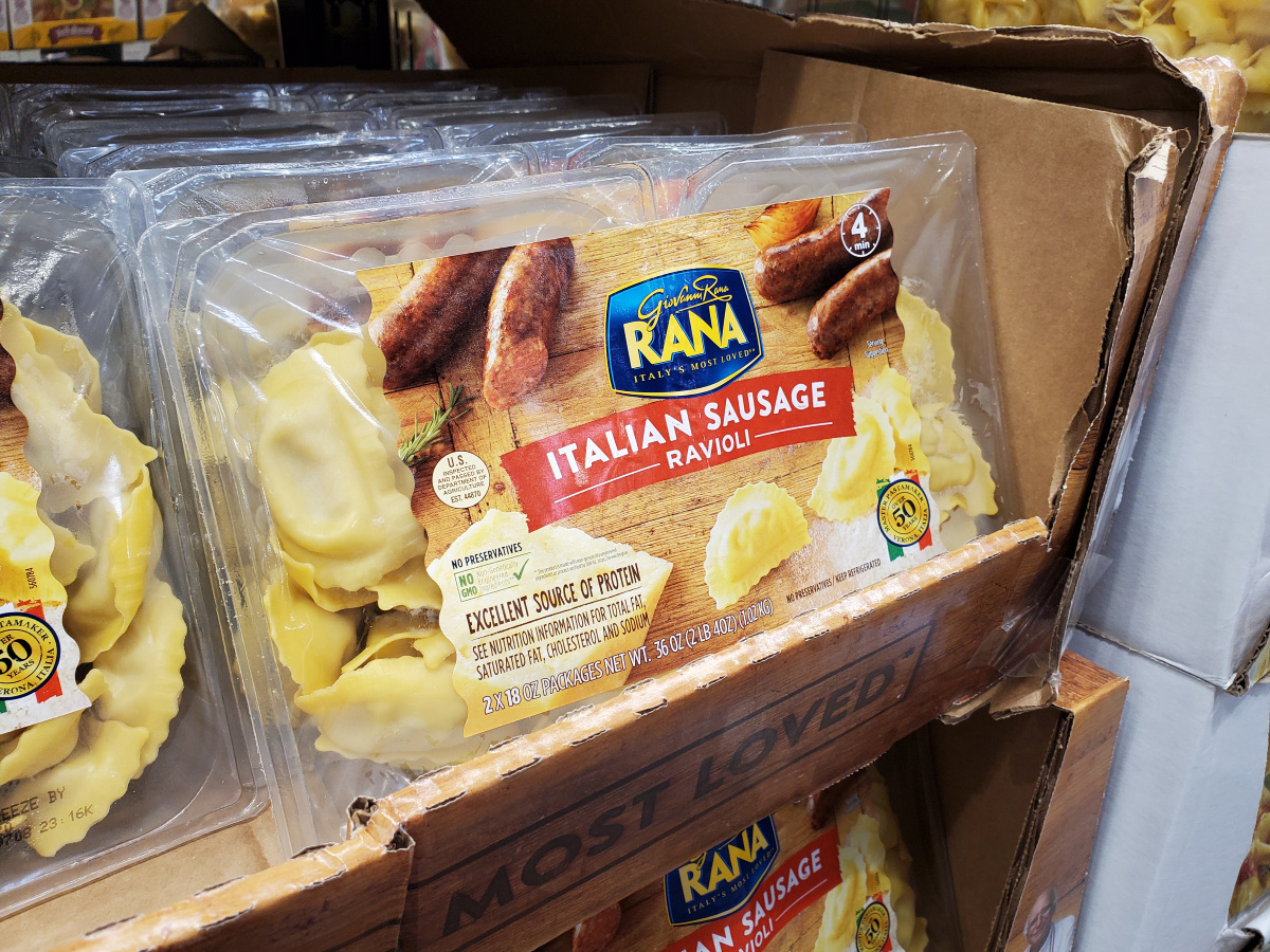 Rana Ravioli in package at Costco