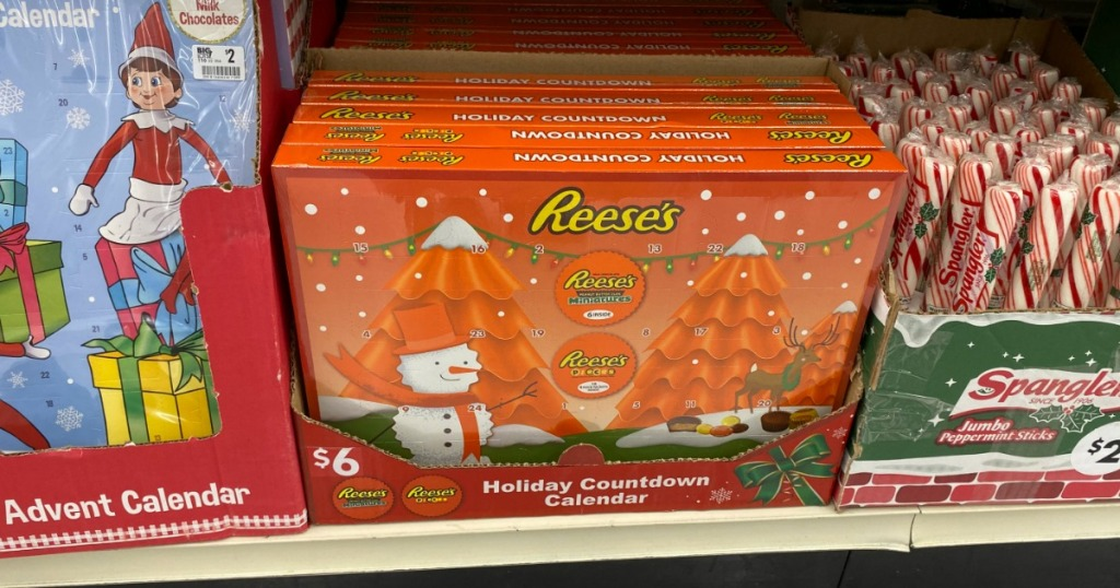 Reese's Lovers Advent Calendar on store shelf