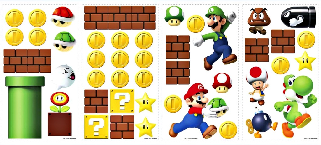 RoomMates Nintendo Super Mario Peel And Stick Wall Decals