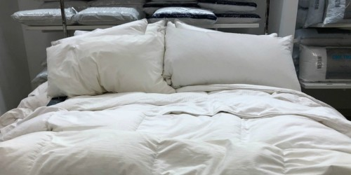 Goose Feather & Down 240-Thread Count White Comforter Only $44.99 Shipped | Includes All Sizes