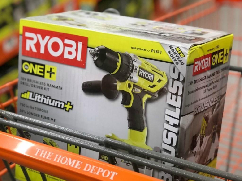 Ryobi Brushless Hammer in Cart at Home Depot