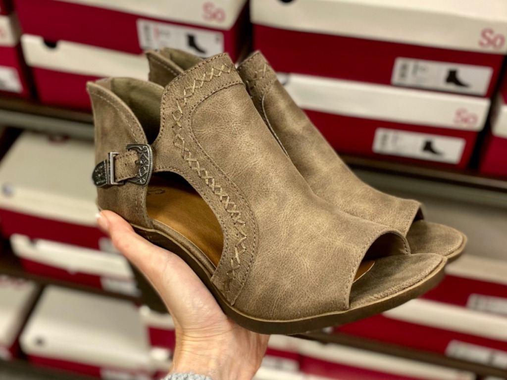 Women's Ankle Boots in hand