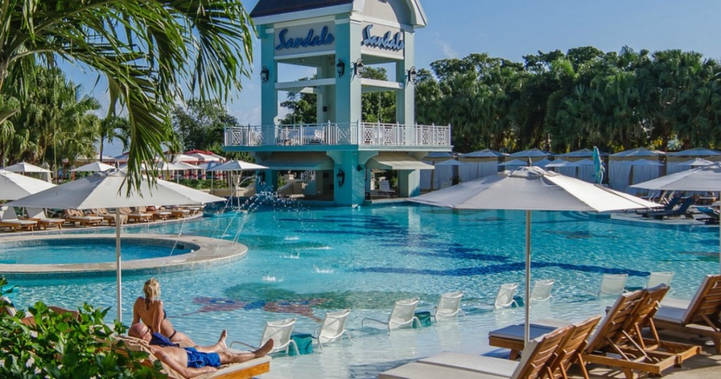 Sandals Resort Poolside view