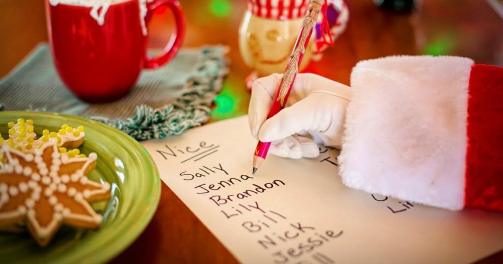 Santa writing Nice list