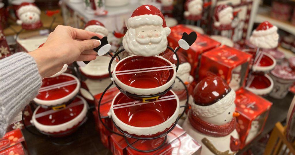 Santa holiday decor bowls