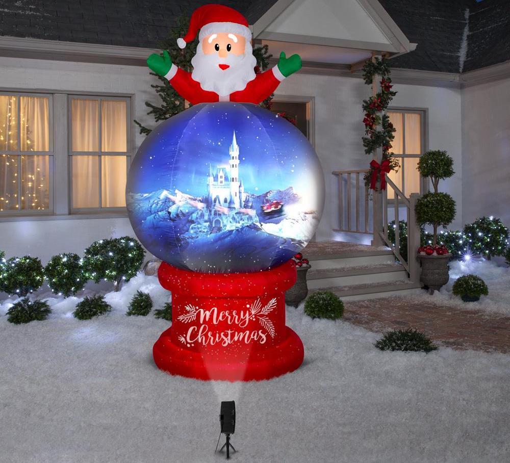 Santa on Globe Airblown Scene