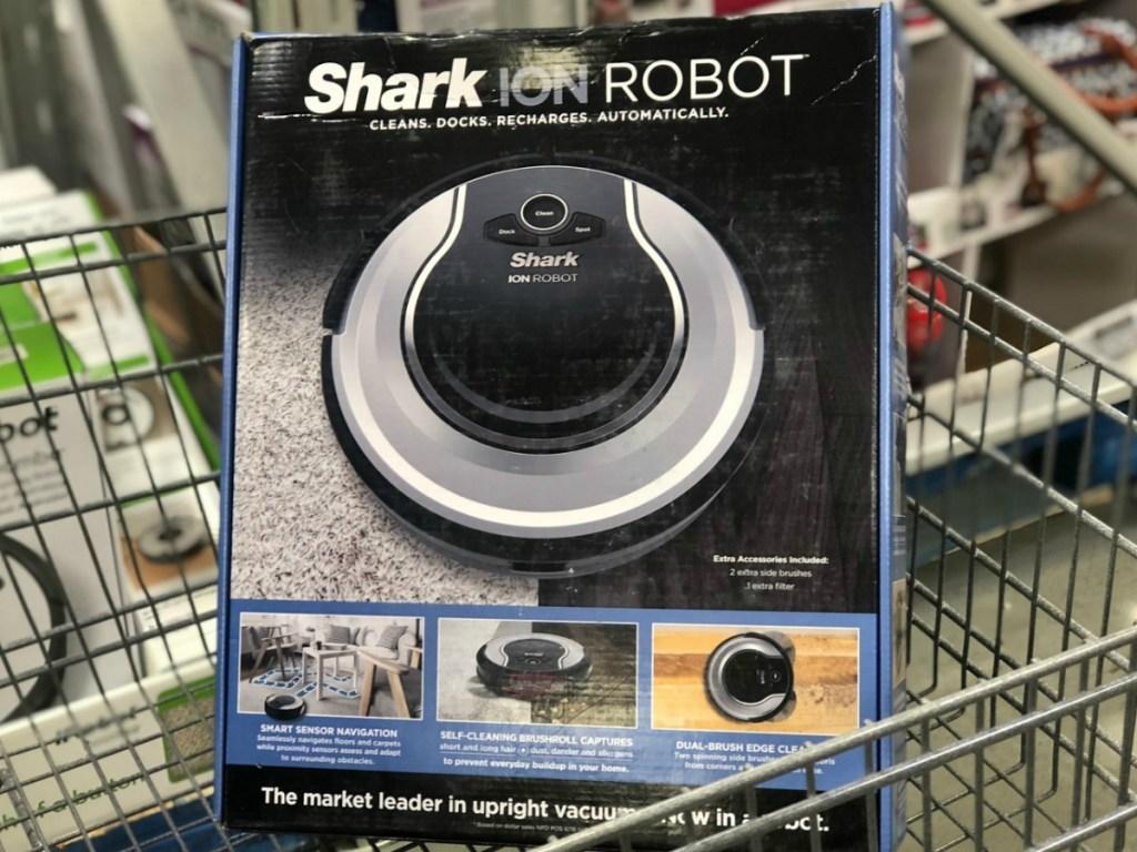 Robotic Vacuum in package in cart in store