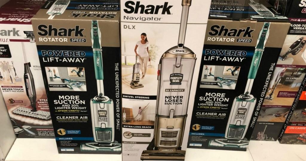 Shark Navigator Vacuum in box on display in-store