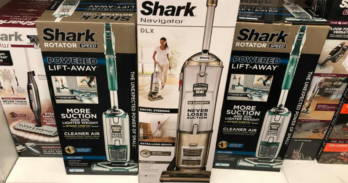 Shark Navigator Vacuum in box on display in-store