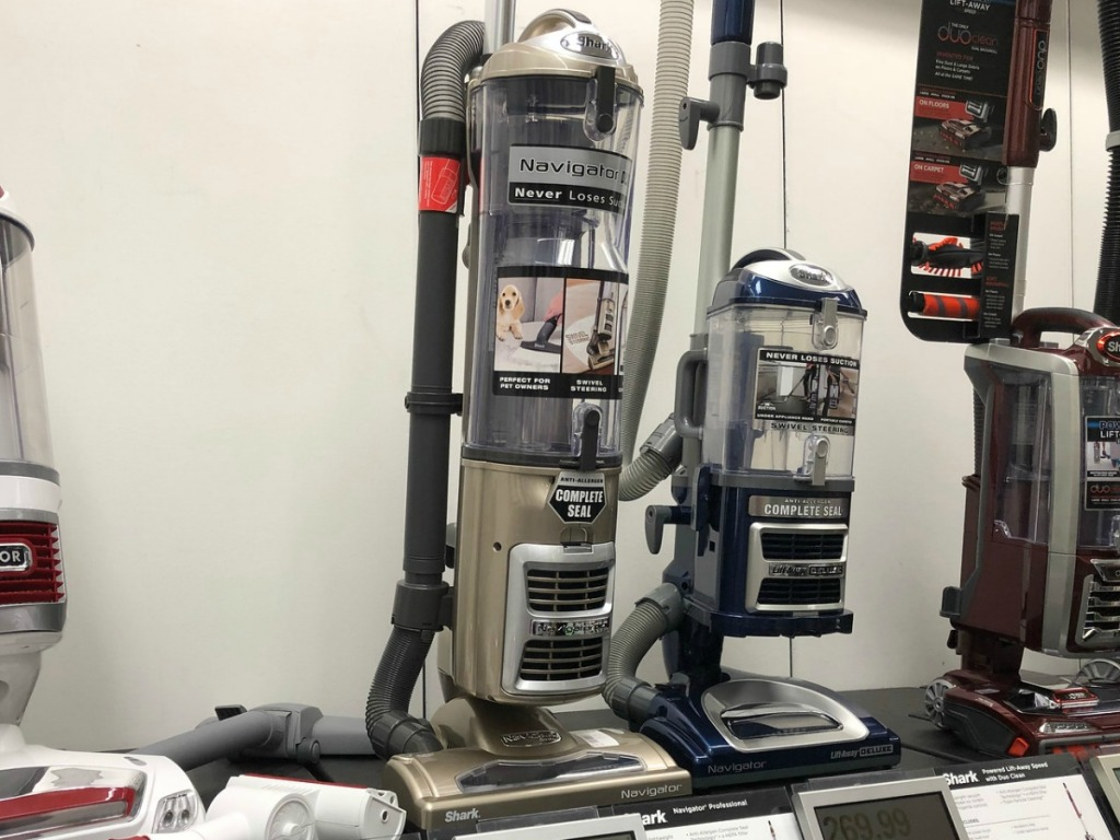 Shark Navigator Vacuum on display at Kohl's