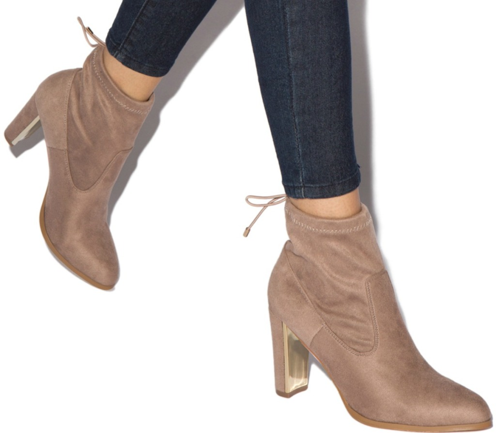 Woman wearing Suede boots