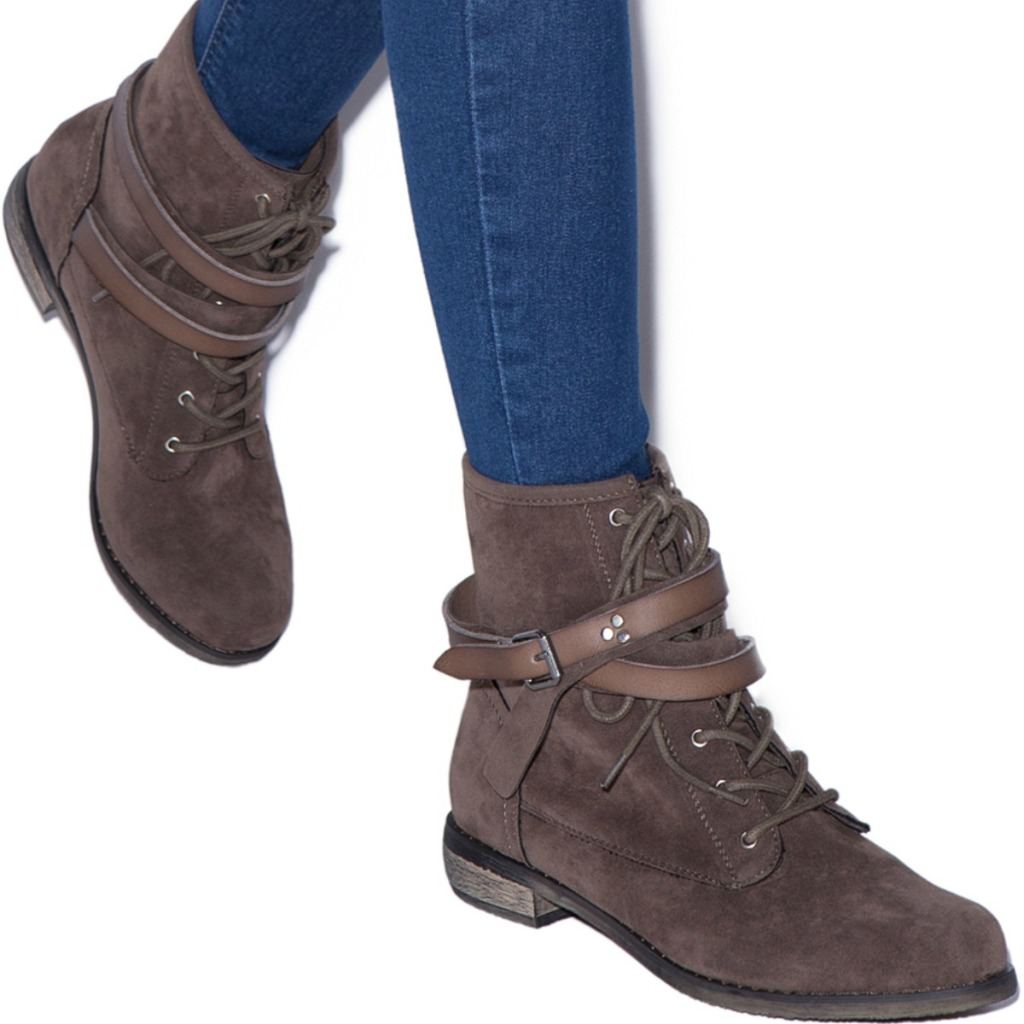 Women wearing brown boots