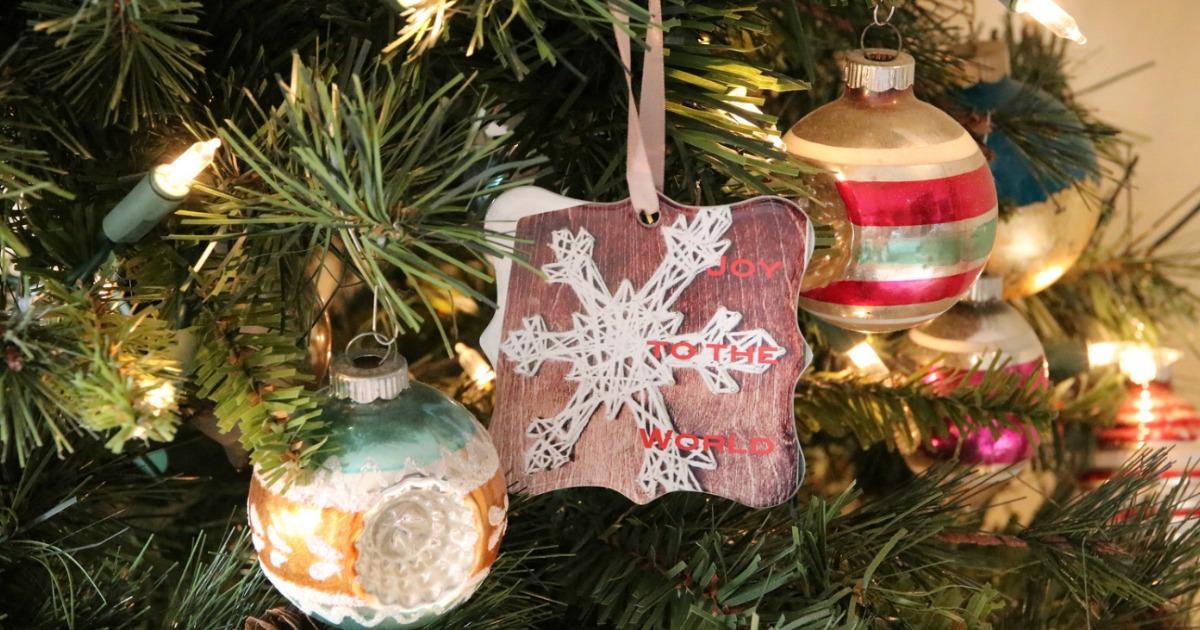 Shutterfly Ornaments on Christmas tree