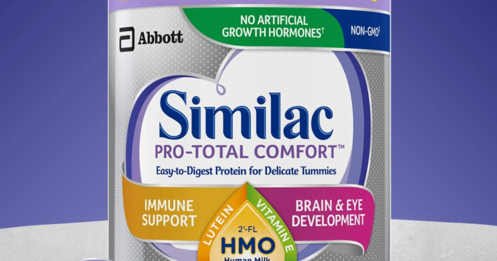 canister of similac pro total comfort