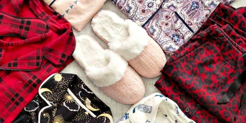 Women's Plush Slippers & Fuzzy Socks Set Only $9 Shipped