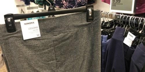 Sonoma Goods for Life Women's Leggings as Low as $5.99 + Free Shipping for Kohl's Cardholders