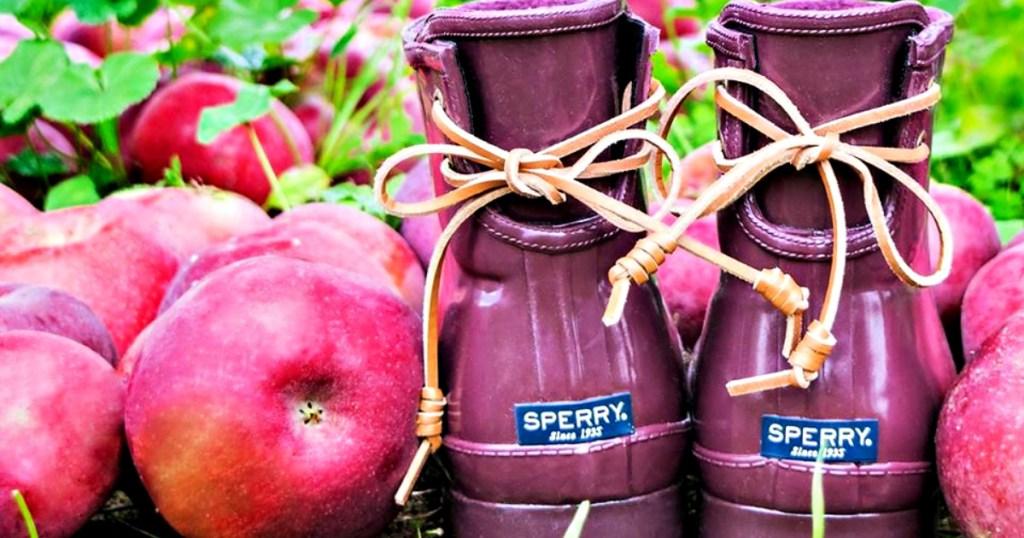 Sperry Women's Top-Sider Lace-back Walker Turf Rain Boots