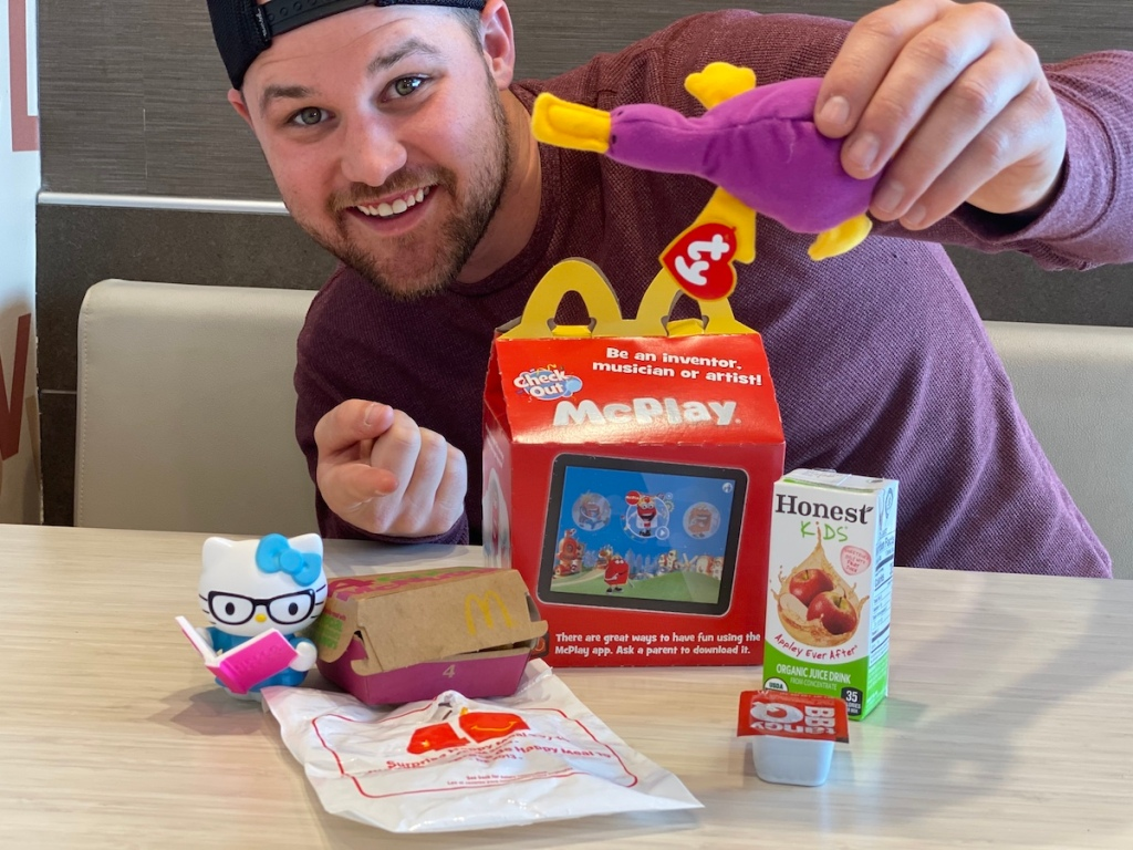 Stetson with McDonald's Happy Meal