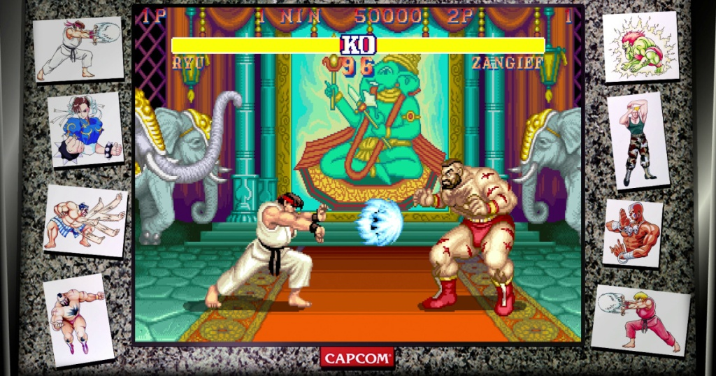 screen grab from street fighter game